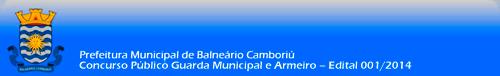 Concurso Público Guarda Municipal e Armeiro – Edital 001/2014