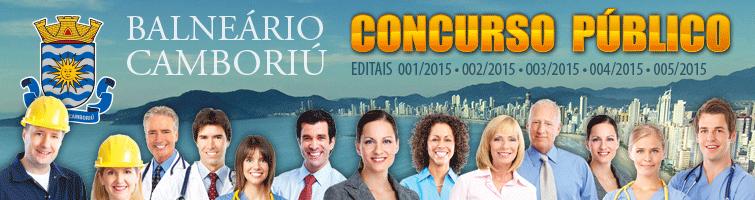 Concurso Público - Editais 1, 2, 3, 4 e 5 de 2015