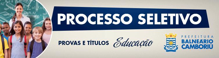 Processo Seletivo Secretaria de Educação - Edital 02/2017