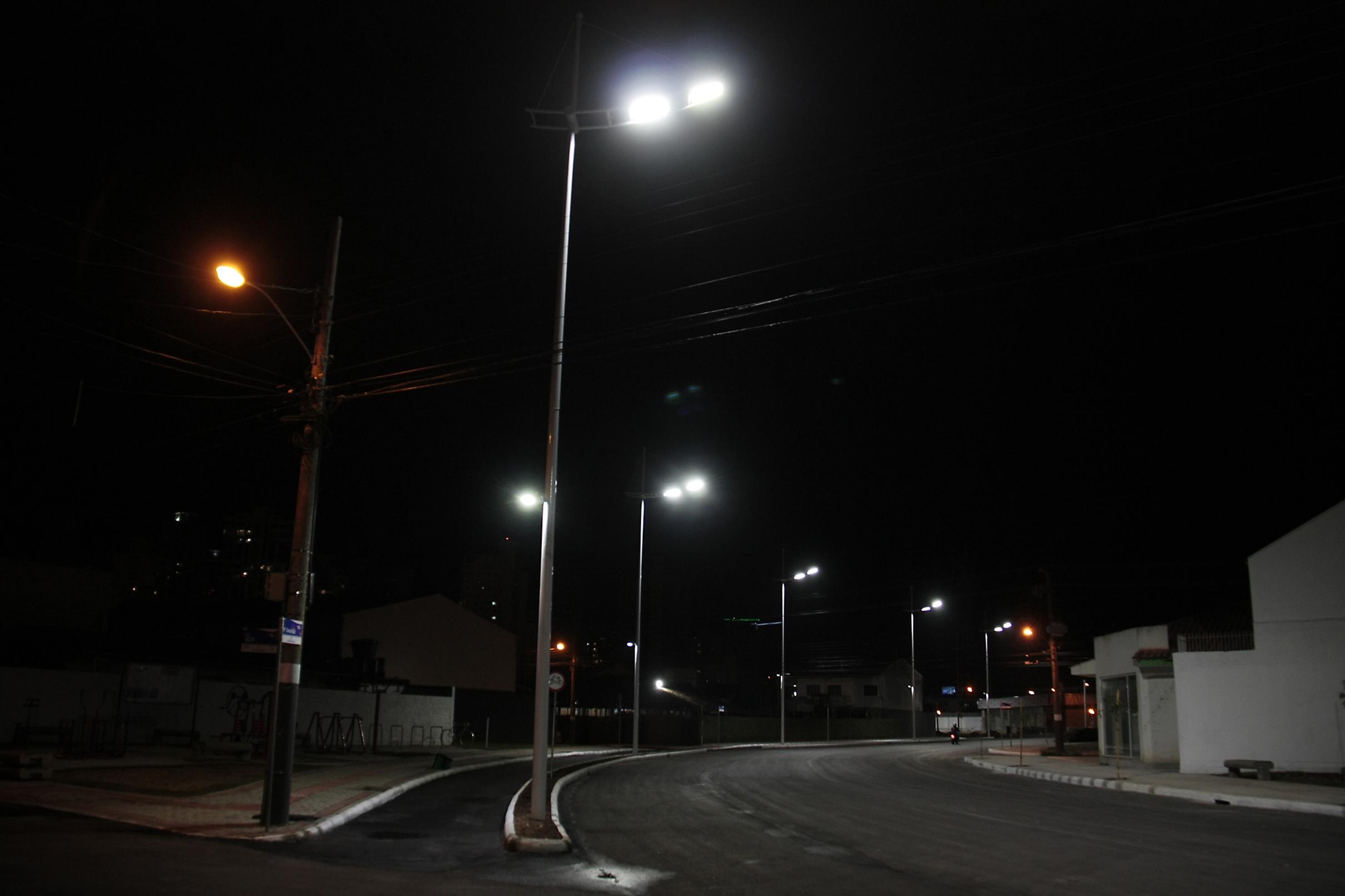 Bairro dos Municípios ganhará iluminação LED